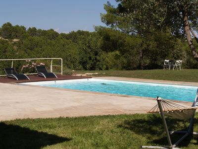Luxurious air-conditioned villa any comfort large pool scrubland