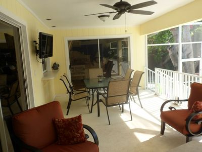 .Spacious lanai with room to relax, read, dine, watch TV, overlooking the pool!