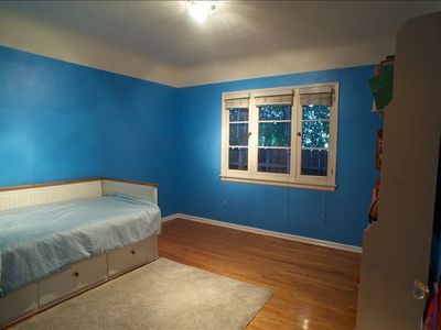 2nd Bedroom with trundle bed which extends into a comfortable king size bed.