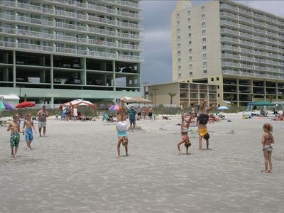 Cherry Grove Beach condo rental - The smooth beach is great fun!