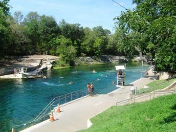 Barton Springs, often called the heart of Austin, is right down the bike trail!