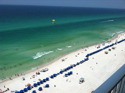 FROM 15TH FLOOR LOOKING AT BEACH condo comes with 2 beach chairs