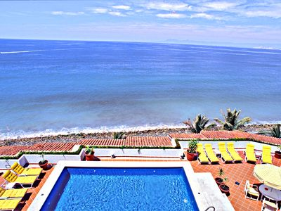 Our Rooftop Pool Overlooks The Complete Bay Of Banderas.