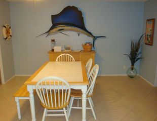 Fort Lauderdale house photo - Casual dining area, seating for six.(and that's a trophy sailfish)