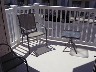 Seaside Heights condo photo - balcony of of main living area, seating for 4