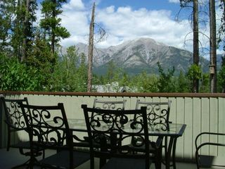 Canmore house photo - View from Back Deck accessed from our Kitchen