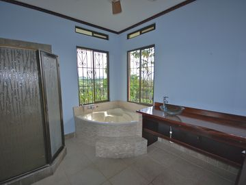 Master bath with lovely views
