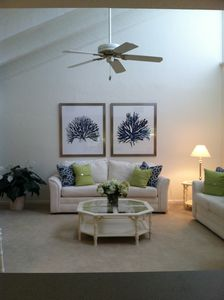 Newly Decorated Living room with vaulted ceiling