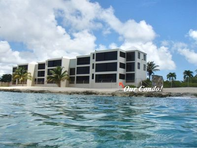 Our condo - just steps from the Caribbean Sea!