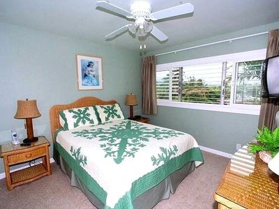 Spacious Bedroom with Queen Bed, Television / DVD and Air-Conditioning