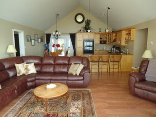 Miminegash cottage photo - Open living area for more family visiting.