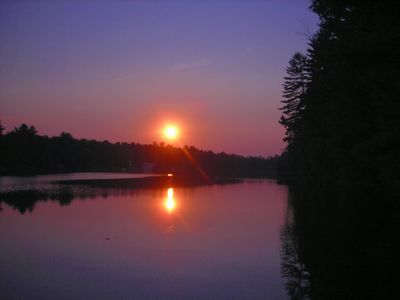 Sunset at Mt. View Lake