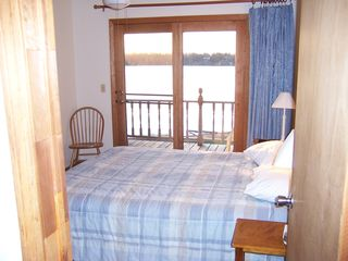 North Hero lodge photo - One of 4 lakeside bedrooms - private balconies