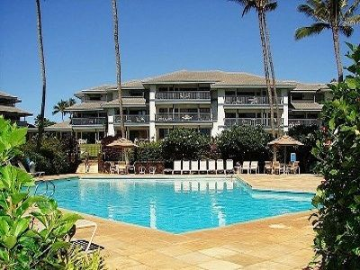 Poipu Sands 211 has the perfect location (lower left corner)