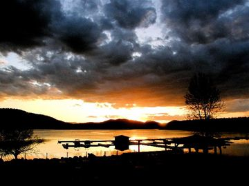 Sunset on Whitefish Lake