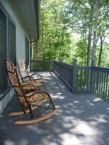 Relax in your rocking chairs and enjoy the views