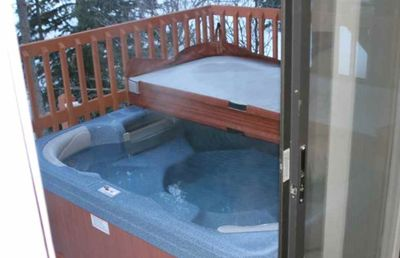 Private Hot Tub on Patio of House