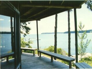 Westport Island cottage photo - Lower deck by master bedroom