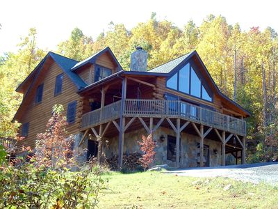 Black Mountain lodge rental - The Catawba Falls Lodge with Large Wraparound Balcony and Amazing Views.