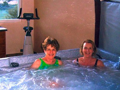 The Jacuzzi is for the adults with many jets to sooth all the sore muscles.
