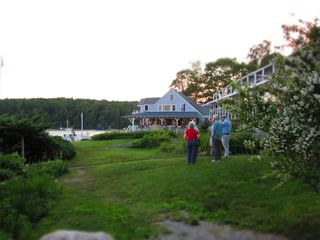 Boothbay Harbor cottage photo - Linekin Bay Resort at the end of our dead end road. Public bar/cafe/restaurant.