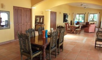Spacious dining & living areas at Casa de Las Palmas