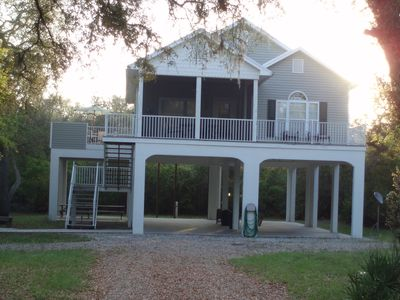 Two Bedrooms,two full baths, fully furnished with one screened porch and 2 decks