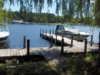 Lake George house photo - 34 foot dock available with rental (inside pier)