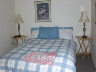 Port Sanilac house photo - upstairs sleeping area - queen bed with last year's comforter