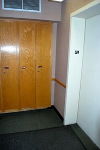 Private ski locker right next to the elevator!
