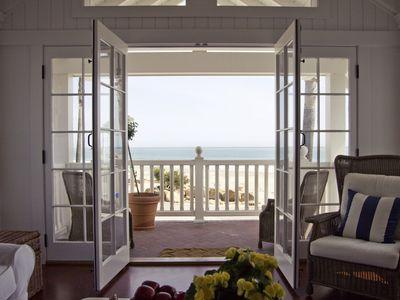 Avila Beach house rental - Living Room Deck - Sand so close you can almost feel it between your toes!