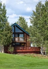 Pagosa Springs house photo - Back Of Our Home As Seen From 2nd Fairway, 40' X12' Deck With Great View