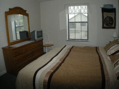 lower bedroom with king bed