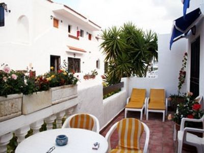 Los Cristianos apartment rental - Terrace with mountain, sea & garden outlook