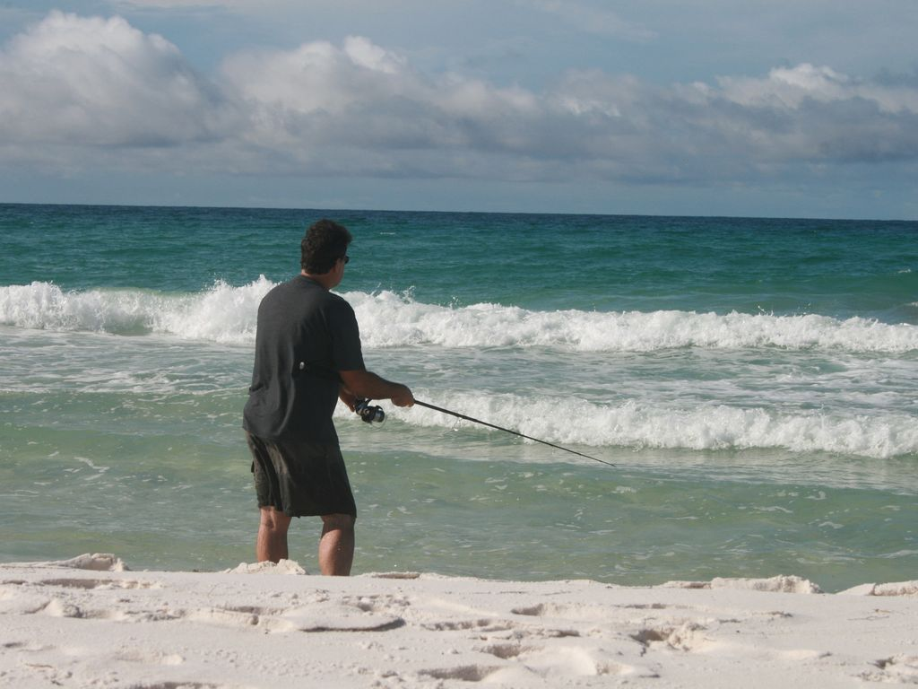 Fishing on the beach (license required)