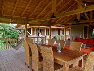 Casa Ganesha - Upper deck - A great place to share time with friends and family