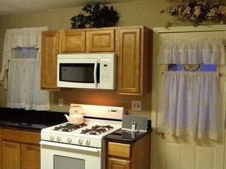 Lavallette house photo - New Microwave and range, freshly painted. Lower Unit.