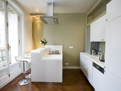 Fully equipped kitchen + balcony