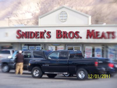 Sniders Meats 1 mile North on 20th East