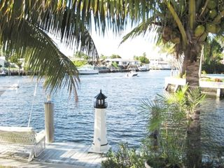 Pompano Beach house photo - Pool View of the Canal and Passing Boats
