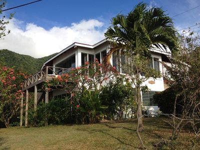 Ocean & Mountain View Villa with Private Pool -Minutes Walk to Beach