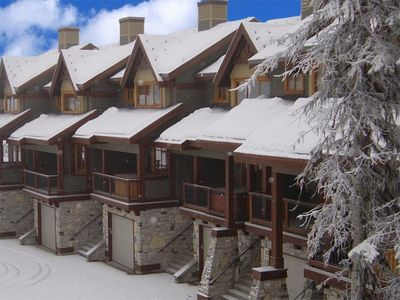 Outside Front view of #9 Blacksmith Lodge, Big White Ski resort.