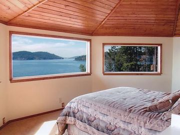 Top floor bedroom with amazing views of the lake.