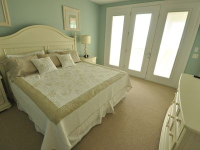 Holden Beach house rental - Bridle Suite with full length mirror and private deck over looking the ocean!