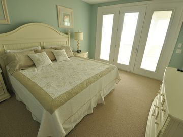 Bridle Suite with full length mirror and private deck over looking the ocean!