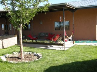 Taos house photo - Front Garden in Summer