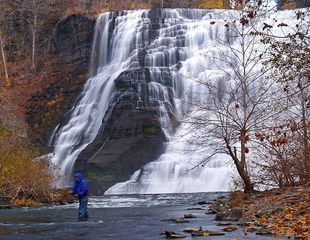 Ithaca apartment photo - Just a 2 minute walk to Ithaca Falls. A popular swimming hole in the summer.
