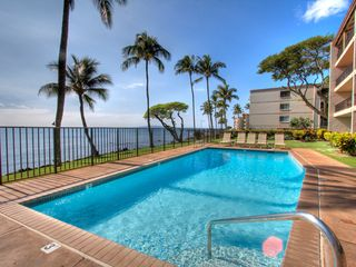Maalaea condo photo - Relax by the pool just steps away from the ocean