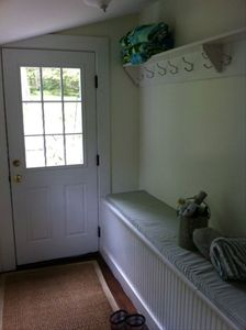 Somesville farmhouse rental - entry