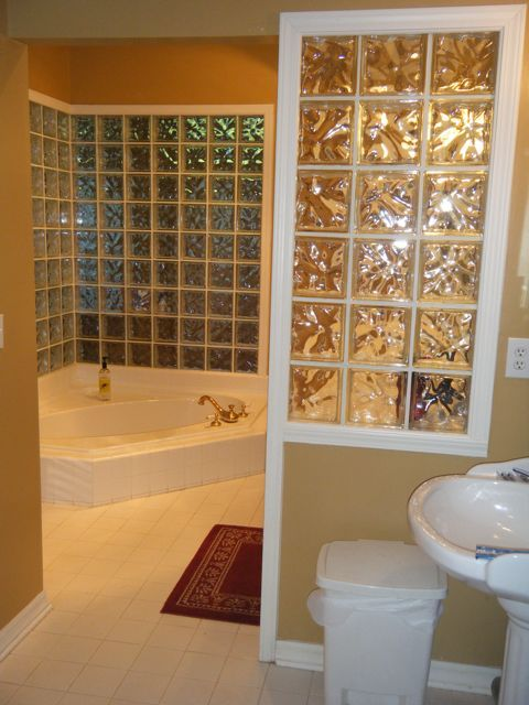 Master bath, has 2 sinks and a shower